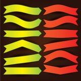 Geplaatste pijlen en vlaggen Stock Fotografie