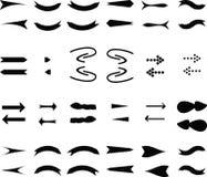 Geplaatste pijlenpictogrammen. Vector Illustratie