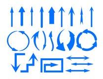 Geplaatste pijlensymbolen Stock Afbeeldingen