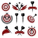 Geplaatste pijltjesetiketten en pictogrammen. Vector Royalty-vrije Stock Foto's