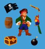 Geplaatste piraat - ontwerpelementen Royalty-vrije Stock Afbeelding