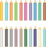 Geplaatste potloden Stock Foto