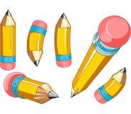 Geplaatste potloden stock illustratie