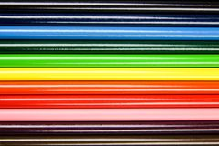 Geplaatste potloden Royalty-vrije Stock Afbeeldingen