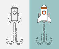 Geplaatste raketpictogrammen Stock Fotografie