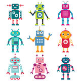 Geplaatste robots royalty-vrije illustratie