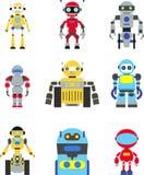 Geplaatste robots Stock Afbeeldingen