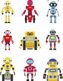 Geplaatste robots Stock Afbeelding
