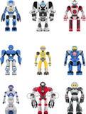 Geplaatste robots Stock Foto's