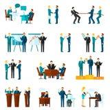 Geplaatste samenwerkingspictogrammen royalty-vrije illustratie