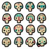 Geplaatste schedels vector illustratie