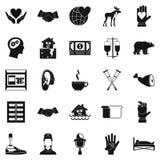 Geplaatste schenkingspictogrammen, eenvoudige stijl Royalty-vrije Stock Afbeeldingen