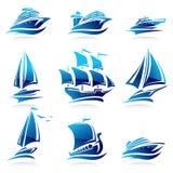 Geplaatste schepen. Vector stock illustratie