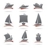 Geplaatste schepen. Vector royalty-vrije illustratie
