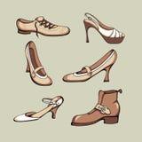 Geplaatste schoenen stock illustratie