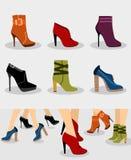 Geplaatste schoenen Stock Foto's