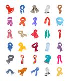 Geplaatste sjaals en Sjaals vector illustratie