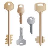 Geplaatste sleutels Stock Foto