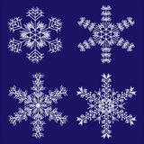 Geplaatste sneeuwvlokken stock illustratie