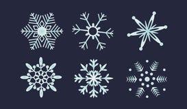 Geplaatste sneeuwvlokken Royalty-vrije Stock Afbeeldingen
