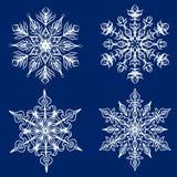 Geplaatste sneeuwvlokken Royalty-vrije Stock Afbeelding