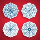 Geplaatste sneeuwvlokken Stock Afbeelding