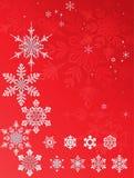 Geplaatste sneeuwvlokkensterren Stock Foto's