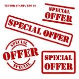 Geplaatste speciale aanbieding Vectorzegels Stock Fotografie