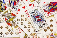 Geplaatste speelkaarten royalty-vrije stock afbeelding