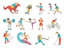 Geplaatste sportmensen Stock Foto
