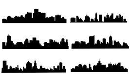 Geplaatste stadshorizon - Vector Stock Foto's
