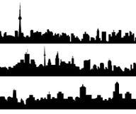 Geplaatste stadshorizon - Vector Stock Afbeelding