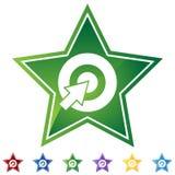 Geplaatste ster - Bullseye royalty-vrije illustratie