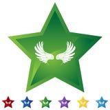 Geplaatste ster - Vleugels royalty-vrije illustratie