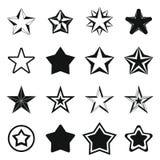 Geplaatste sterpictogrammen, eenvoudig Royalty-vrije Stock Afbeelding