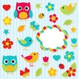 Geplaatste stickers Royalty-vrije Stock Afbeeldingen
