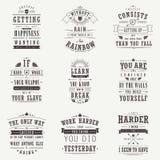 Geplaatste succes motieven en inspirational citaten vector illustratie