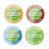 Geplaatste symbolen van de etikettenemblemen van het Web de organische Royalty-vrije Stock Fotografie