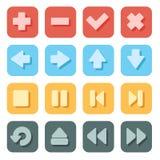Geplaatste symboolpictogrammen Stock Afbeeldingen