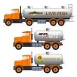 Geplaatste tankwagens royalty-vrije illustratie
