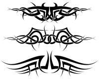 Geplaatste tatoegeringen Stock Fotografie