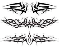 Geplaatste tatoegeringen Stock Foto's