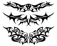 Geplaatste tatoegeringen Stock Foto