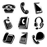 Geplaatste telefoons. vectorpictogrammen vector illustratie