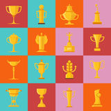 Geplaatste toekenningspictogrammen Royalty-vrije Stock Afbeeldingen