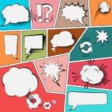 Geplaatste toespraakbellen, Vectorillustratie Stock Afbeeldingen