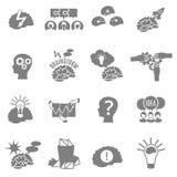 Geplaatste uitwisselings van ideeën Vlakke Pictogrammen Stock Fotografie