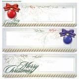 Geplaatste vector: banners voor Kerstmis en Nieuwjaar Stock Foto's