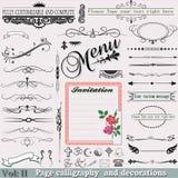 Geplaatste vector: De kalligrafie Volume van de pagina: 2 (Fijne elementen Royalty-vrije Stock Foto