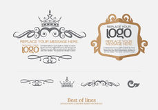 Geplaatste vector: de Thaise elementen van het kunstontwerp en paginadecoratie Stock Fotografie